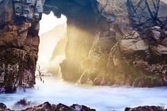 Glory copy (amymedina.photoart) Tags: bigsur keyhole rocks beams rays atlantis mystical heavenly mist misty mysterious ocean oceanic longexposure sea california arch pheiffer beach waves