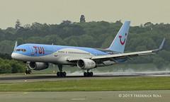 TUI B757 ~ G-BYAW (© Freddie) Tags: luton bedfordshire lutonairport ltn eggw ltneggw boeing b757 b752 tui gbyaw fjroll ©freddie