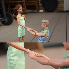 Putting a Ring on it (Tee-Ah-Nah) Tags: ring engagement proposal couple ken move made madetomove doll barbie braid pregnant outdoors