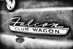 Club Wagon (Thomas Hawk) Tags: america bayarea california clubwagon falconclubwagon ford fordfalcoln fordfalconclubwagon haightashburydistrict photowalk sf sfbayarea sanfrancisco us usa unitedstates unitedstatesofamerica westcoast auto automobile bw car emblem sfflickrmeetup van fav10 fav25