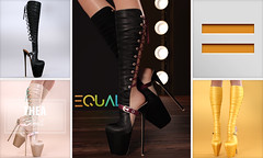 EQUAL - Thea Boots (EQUAL SL) Tags: secondlife shoes slink maitreya belleza boots access equal