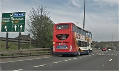 Stagecoach Bus 15688, Parkway, Sheffield. (ManOfYorkshire) Tags: a630 a57 road parkway sheffield bus stagecoach 15688 sliproad turningoff standard scania enviro400 doubledecker mosborough worksop yn60acx