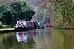 The Peak Forest Canal at Bridgemont, Peak District (HighPeak92) Tags: boats narrowboats canals peakforestcanal bridgemont peakdistrict derbyshire canonpowershotsx700hs