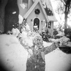 The Joy of Winter (seth.michael.kelly) Tags: snowday ohio oh holga120n expiredtrix320 trix txp320 filmisnotdead winter snowy sledding fun