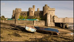 Conwy Castle - Take 2. (peterdouglas1) Tags: conwycastle transportforwales northwalescoastrailway northwalescoast northwales boats castles