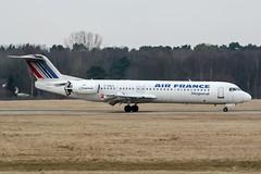 F-GNLK (PlanePixNase) Tags: aircraft airport planespotting haj eddv hannover langenhagen airfrance fokker 100 f100