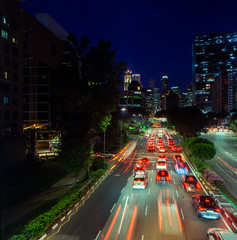 Street night on film (Thanathip Moolvong) Tags: lomography 400 bronica s2 50mm f35 night tripod long exposure