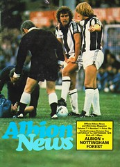 West Bromwich Albion vs Nottingham Forest - 1979 - Cover Page (The Sky Strikers) Tags: west bromwich albion wba brom nottingham forest football league division one the hawthorns official news and matchday magazine 30p