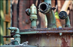 Old friends (Logris) Tags: zeche colliery rust rost pipes rohre abandoned decay old at lapadu duisburg