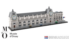 Micro Lego Musée d'Orsay, Paris (BenBuildsLego) Tags: dorsay musee musée museum lego legos micro microscale nano nanoscale scale bricks afol architecture design clock train station art impressionism french france paris benbuildslego frances sculpture escultura statue cars neoclassical classical