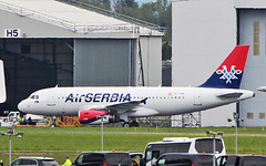 air serbia a319-132 oe-ian to be yu-apk at shannon 18/5/19. (FQ350BB (brian buckley)) Tags: airserbia a319132 einn cobalt oeian yuapk iac painting