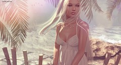 Ocean between us.. (Sistine Kristan (Sisely) - Toolbox Chicks) Tags: blog photography maitreya portrait secondlife sl virtual fd ersch pearl beach summer tres blah