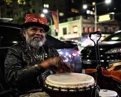 djembe! (gro57074@bigpond.net.au) Tags: djembe 2019 may f28 2470mmf28 tamron d850 nikon guyclift color colour sydney darlinghurst oxfordstreet musician busker streetphotography street