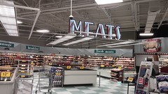 We have the MEATS (Retail Retell) Tags: kroger for goodness sake olympic spirit décor store powder springs road marietta ga retail rare package 1990s neon