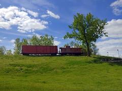 "EJ&E 539 Caboose (Vinny Gragg) Tags: eje 539 caboose eje539caboose •template ""roadsideattraction"" ""roadsideattractions"" ""roadsidestatue"" ""roadsidegiants"" ""roadsidestatues"" ""roadsideoddities"" statues statue ""roadsideart"" giants train trains engine locomotive loco choochoo railroad railway joliet illinois jolietillinois willcounty cloud clouds grass tree trees boxcar elginjolietandeasternrailway"