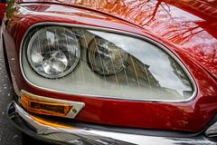 DS Vintage Eyes (cs_one) Tags: citroen drive luzern retro vintage vehicle red hood style old classic beautiful automotive form car headlight design front bumper automobile chrome closeup ds citroën
