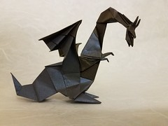 The Curious Dragon (Matthew J. Dunstan) Tags: origami origamiforum paperfolding dragon art design fantasy dd wip