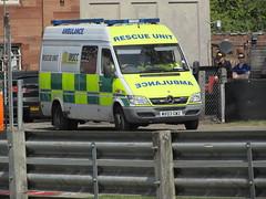 British Racing & Sports Car Club Mercedes-Benz Sprinter (MV03 GWZ) (Neil 02) Tags: britishracingsportscarclub brscc mercedessprinter mv03gwz ambulance paramedic ems emergencyservices oultonpark cheshire