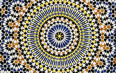 _ZER8515 copy (| Press photographer |) Tags: pattern tile mosaic moroccan background wall morocco oriental abstract decor old art style ceramic arabian blue ornament geometric texture marrakesh design vintage culture antique arabic architecture artistic color colorful decoration decorative detail floor frame geometry grunge islamic muslim ornamental ornate surface tiled traditional yellow