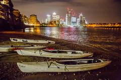 (Wanderer and Wonderer) Tags: kayak river thames london england explorersconnect canarywharf