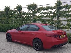 My red Alfa Romeo Giulia Veloce (iBSSR who loves comments on his images) Tags: alfa romeo giulia veloce quadrifoglio 952 giorgio ferrari rosso italy design heritage sportsedan