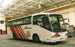 Bus Eireann SI8 (98D10325). (Fred Dean Jnr) Tags: buseireannbroadstonedepot broadstonedepotdublin bus broadstone buseireann scania l94 irizar century si8 98d10325 dublin july1998 r884sdt