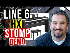Line 6 HX Stomp - Jamming Out with the Demo of the Yamaha P-45 Digital Keyboard (chadbriangarber) Tags: line 6 hx stomp jamming out with demo yamaha p45 digital keyboard
