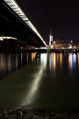 kocurekoval-naznacenypohyb (lucia.kocurekova) Tags: bratislava dunaj night bridge church lights