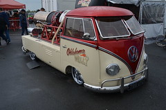 Oklahoma Willy (Sam Tait) Tags: santa pod raceway england drag strip race track vw volkswagen van split screen air cooled jet demo dragster pick up truck turbine fast oklahoma willy
