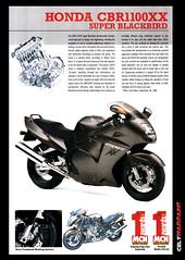 1997 Honda CBR1100 Super Blackbird Brochure scan. (Celtwarpaint) Tags: honda cbr1100xx blackbird brochure scan