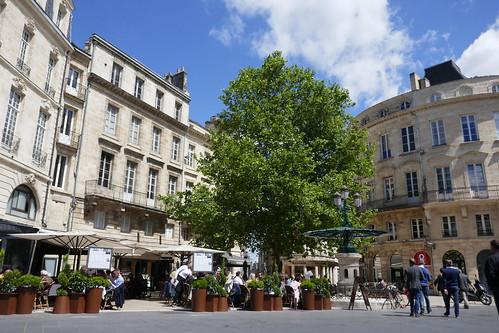 Un dimanche en ville, rue Montesquieu, Bordeaux, Gironde, Nouvelle-Aquitaine, France.