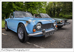 Two Triumph Cars (Paul Simpson Photography) Tags: triumph triumphtr250 paulsimpsonphotography imagesof imageof photosof photoof car classiccar cars oldcars carshow eytcc2019 motorcar carshowseason britishcars england nicecars vintage carsfromthe1960s icons showcars carsofengland carsoftheuk triumphstag