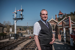Levisham signalman John Phillip. (blair.kooistra) Tags: 2019 britain england heritage heritagerailways steam uk northyorkshiremoorsrailway railway locomotive northyorkmoors goathland whitby grosmont lms lner southernrailway