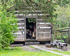 Sweeping (AChucksEyeView) Tags: historic sweeping cabin log old world wisconsin rustic