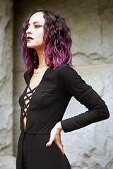 img_4162 (steevithak) Tags: cemetery modeling model blackdress purplehair blacklips darkbeauty graveyard greenwoodcemetery dallas texas tx
