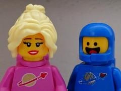Happy Benny (sander_sloots) Tags: happy benny copilot spaceship lego legomovie spaceman girl blonde woman space theme movie doesburg lumix panasonic dctz90 minifig minifiguur pink roze blue blauw portret portrait afol