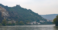 Schloss Ruine with Village Durnstein on the Danube (photo_paddler) Tags: europe austria wachauvalley village day spring color outdoor availablelight