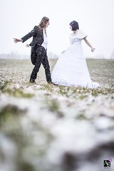 First Dance Rehearsal, Snowstorm (Andrew Morrell Photography) Tags: wedding weddingphotography weddingphotographer weddingphotojournalism weddings weddingday dance wpja awardwinning snow snowstorm 50mm12 canon 5d couple