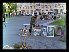 190508_M_FUJI_400_223 (lukasz_omasta) Tags: street city people performer warsaw mediumformat mamiya 645