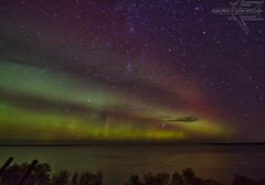 Triple Decker (Winglet Photography) Tags: wingletphotography northernlights auroraborealis georgewidener stockphoto solarstorm aurora geomagnetic earth sun wisconsin canon 7d storm solar georgerwidener night nighttime longexposure dark inspiration lights colors sky nature heclaisland manitoba canada gullharbour provincialpark