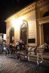 Night Carriage (peterkelly) Tags: digital northamerica canon 6d gadventures mayandiscovery mexico yucatán mérida horse carriage road street brick light