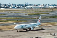 _MG_8403 (waychen_c) Tags: japan jp tokyo tokyometropolis ota otacity haneda hanedaairport tokyointernationalairport hnd rjtt boeing 777 777200 japanairlines ja8984 aircraft airplane aviation airport taxiway skyecolivery cityscape urban tokyo14days 日本 東京 東京都 大田 大田区 羽田 羽田空港 ターミナル1 羽田機場 日本航空 波音 jal