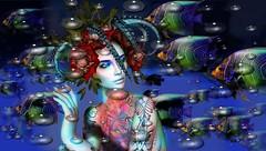 Fish (tralala.loordes) Tags: secondlife sl slfashionblogging slblogging junaartistictattoo junablogger junaartistictattooblogger tralalaloordes tralala tattoo tra fashion fantasy fantasyart mermaid fish flickrblogging flickrart virtualphotography virtualreality vr avatar lode tropicalfish trompeloeiloctopustable absolutevent