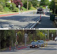 Cyclists BEWARE!  Roads are getting NARROWER (No. 1 of 3) (Brit 70013 fan) Tags: saanich victoria britishcolumbia canada cadborobayroad sidewalks bikelanes traffic pedestrians cycling biking