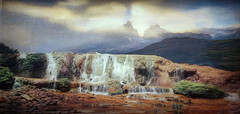 Falling Mountain Waters (jarr1520) Tags: landscape mountains sky clouds mist fog rocky rocks mountainpeaks hills valley waterfall water composite textured outdoor