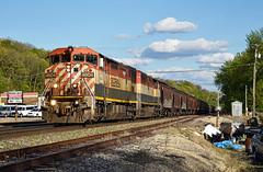 BC Rail on BNSF (Jacob Narup) Tags: train trains railfan railfanning railroad bcol bcol4604 bcrail britishcolumbia britishcolumbiarailway bcolbarn c408m bnsf bnsfrailway bnsfaurorasub eastdubuqueillinois eastdubuque eastdubuqueil illinois