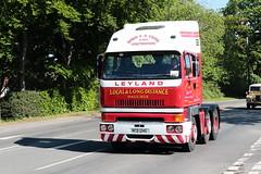 1987 Leyland 6x2 Roadtrain Tractor Unit RCD124G (davidseall) Tags: 1987 leyland 6x2 roadtrain tractor unit truck lorry rcd124g rcd 124g artic large heavy haulage lgv hgv london brighton historic commercial vehicle society run may 2019 hcvs