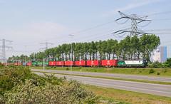 LTE 193 280 - Rotterdam Maasvlakte (rvdbreevaart) Tags: lte rotterdam havenspoorlijn maasvlakte siemens vectron br193 containertrein containershuttle eisenbahn railway ferrovie raw rawtherapee ell