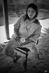 """Kogi with """"poporo"""" (poupette1957) Tags: art atmosphère black canon curious costumes detail colombie humanisme imagesingulières kogi life monochrome man photographie people portrait rue street town travel"""