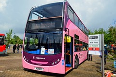 19063 404DCD (PD3.) Tags: enviro 400 19063 404dcd 404 dcd cancer reserch pink lady 11 2 guildford surry alexander dennis ltd adl chassis works plant bus buses uk england stagecoach south